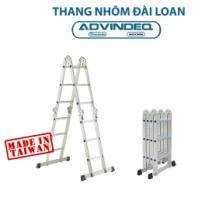 Thang nhôm Đài Loan gấp đa năng 4 đoạn khóa tự động Advindeq T6-125